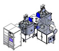 Вакуумные напылительные системы кластерного типа , производство РОБВАК, Россия-Корея