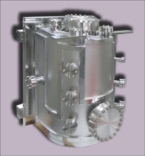 Вакуумная камера из нержавеющей электрополированной стали D формы для вакуумной магнетронной системы